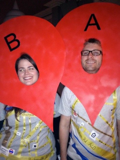 Google maps costume for a couple