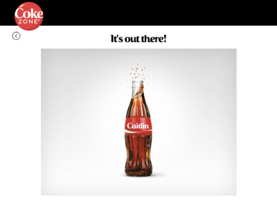 Share a Coke - your name is out there!